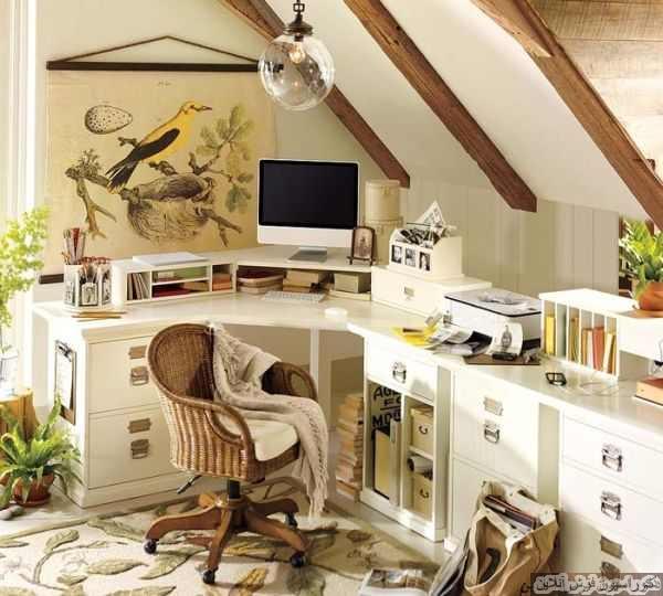 ۲۰ ایده دفتر کار خانگی برای فضاهای کوچک