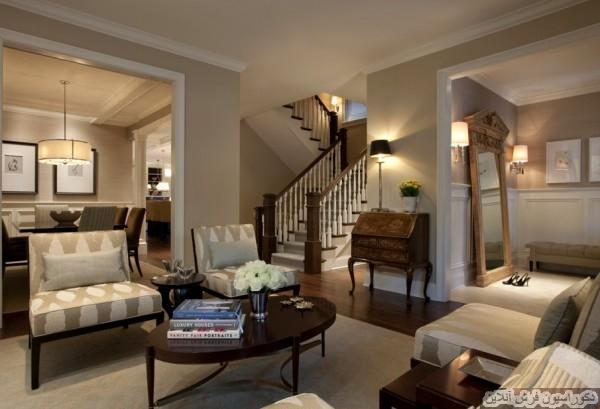 فضای داخلی منزل با رنگ های خنثی