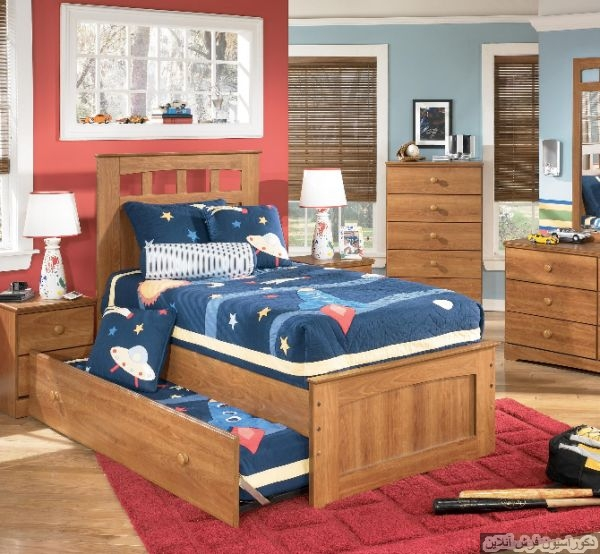 ۱۹ تخت کشویی جالب برای اتاق کودکان