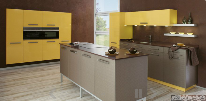 Modern yellow kitchen decor