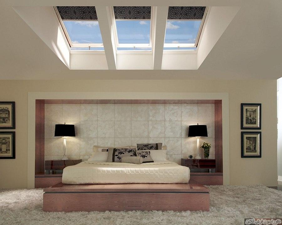 اتاق خواب های مدرن با نورگیرهای زیبا