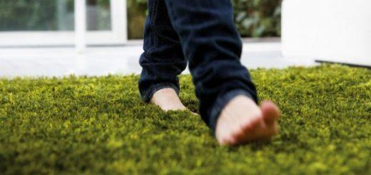 comfortable-green-grass-rug