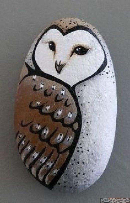 دکوراسیونی زیبا با نقاشی روی سنگ