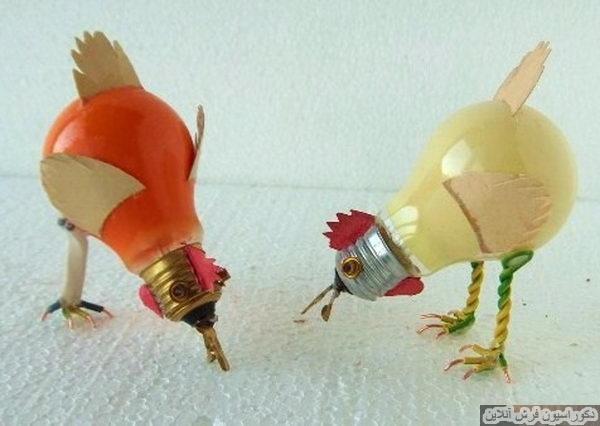 کاردستی ساخت مرغ با لامپ