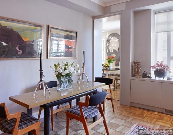 اتاق های ناهار خوری کوچک که در فضا صرفه جویی می کنند!