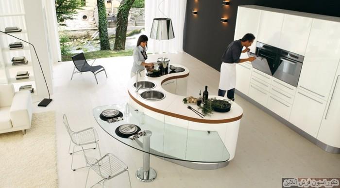۲۰ مدل آشپزخانه ی جزیره ای